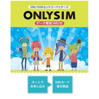 「ONLY SIM」データ通信専用+SMS対応 ドコモ対応SIMカード ※SIMカード後日発送 ONLYSIM02