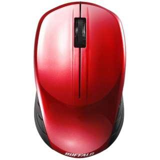 マウス レッド BSMBW108RD [BlueLED /無線(ワイヤレス) /3ボタン /USB]