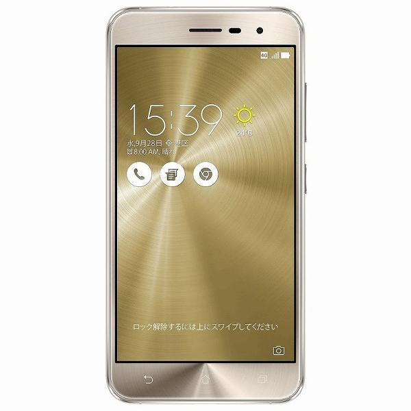 ZenFone 3 ZE520KL-GD32S3 SIMフリー [クリスタルゴールド] (SIMフリー)