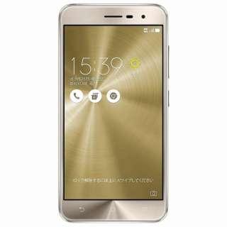 Zenfone3クリスタルゴールド「ZE520KL-GD32S3」  Snapdragon 625 5.2型・メモリ/ストレージ: 3GB/32GB microSIM×1、nano×1 ドコモ/au/ソフトバンク/YmobileSIM対応 SIMフリースマートフォン