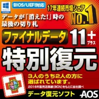 ファイナルデータ11plus 特別復元版 ダウンロード版【ダウンロード版】