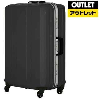 【アウトレット品】 フレームタイプスーツケース 54L D-light(ディライト) ブラック 6022-58-BK [TSAロック搭載] 【数量限定品】