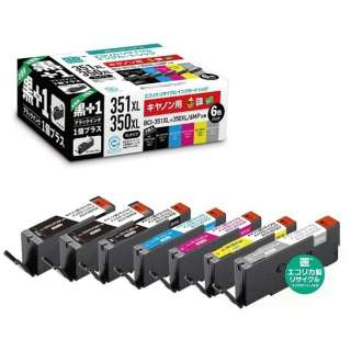 ECI-C351XL6P+BK リサイクルインクカートリッジ【キヤノン用  BCI-351XL+350XL/6MP+BCI-350XLPGBK互換】 6色パック(大容量)