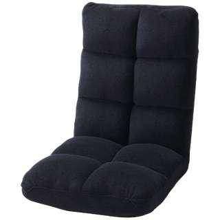 【座椅子】もこもこリクライナー FKC-006BK(W42×D60-102×H56×SH14cm)