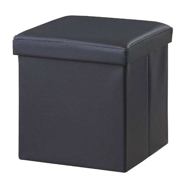 ボックススツール 正方形 LFS-811BK(W38×D38×H38cm)