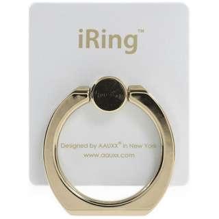 〔スマホリング〕 iRing Limited Edition ゴールドシャフト/パールホワイト UMS-IRLEG01PW