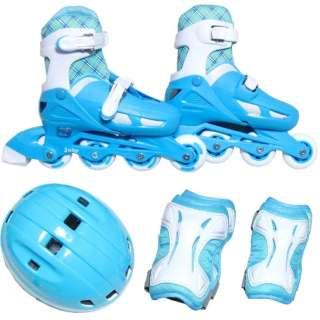 ジュニアインラインスケート 4点セット(ライトブルー/Sサイズ) KK-120