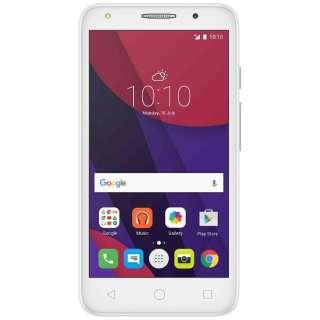 PIXI 4 ホワイト 「5045F-2EALJP1」Android 6.0・5.0型ワイド・メモリ/ストレージ:1GB/8GB・microSIM×2 SIMフリースマートフォン