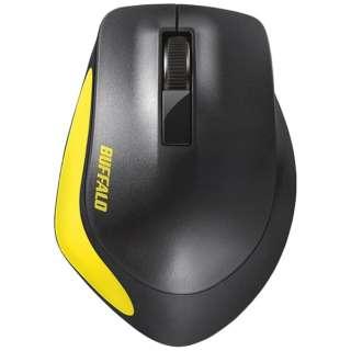 BSMBW300MYE マウス BSMBW300Mシリーズ イエロー [BlueLED /3ボタン /USB /無線(ワイヤレス)]
