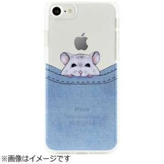 iPhone 7用 ソフトクリアケース ベイビーアニマル ポケットハムスター Dparks DS9484i7