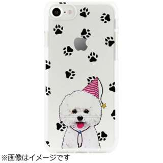 iPhone 7用 ソフトクリアケース アニマルズ ビションフリーゼ Dparks DS9488i7