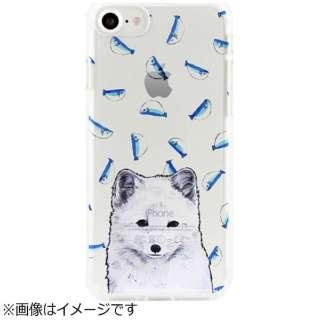iPhone 7用 ソフトクリアケース アニマルズ ホッキョクギツネ Dparks DS9489i7