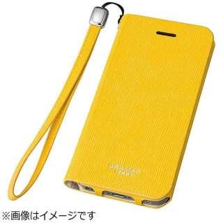 iPhone SE(第1世代)4インチ / 5s / 5用 レザーケースFEMME Colo Flap Leather Case イエロー FLC226YL ポケット付+ハンドストラップ