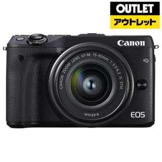 【アウトレット品】 EOS M3 ミラーレス一眼カメラ EF-M15-45 IS STM レンズキット ブラック [ズームレンズ] 【外装不良品】
