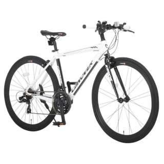 700×28C型 クロスバイク KRNOS(ホワイト/470サイズ《適応身長:160cm以上》) CAC-028-CC【2017年モデル】 【組立商品につき返品不可】