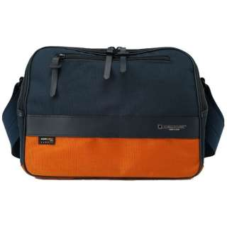 Camera Bag (M) <ICAM series> ICAM-35B NYOR (navy X orange)
