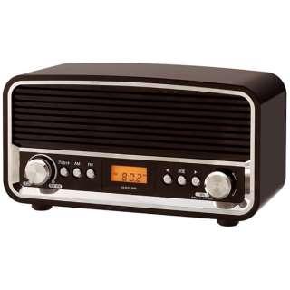 SAD-7221 ホームラジオ ブラック [AM/FM /ワイドFM対応]