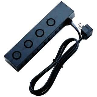電源タップ (2ピン式・4個口・1.0m・ブラック) AVT-D6-2410BK