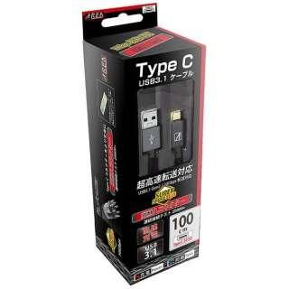 [Type-C]3.1 Gen2ケーブル 充電・転送 1.0m グレー U31AMCM100-GY [1.0m]