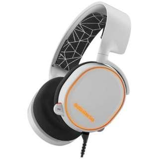 61444 有線ゲーミングヘッドセット Arctis 5 ホワイト [φ3.5mmミニプラグ+USB /両耳 /ヘッドバンドタイプ]