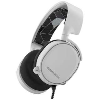 61434 有線ゲーミングヘッドセット Arctis 3 ホワイト [φ3.5mmミニプラグ /両耳 /ヘッドバンドタイプ]