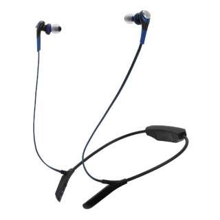 bluetooth イヤホン カナル型 BL ブルー ATH-CKS550BT [リモコン・マイク対応 /ワイヤレス(左右コード) /Bluetooth]