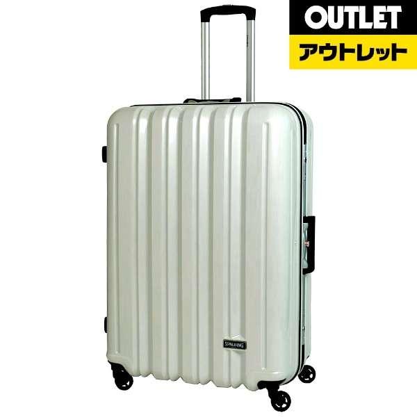 【アウトレット品】 スーツケース フレームキャリー 68L White Hairline SP-0676-64-WHH [TSAロック搭載] 【外装不良品】