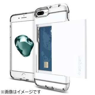 iPhone 7 Plus用 Crystal Wallet ジェットホワイト 043CS21051