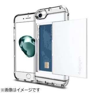 iPhone 7用 Crystal Wallet ジェットホワイト 042CS21049