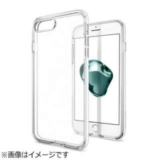 iPhone 7 Plus用 Neo Hybrid Crystal ジェットホワイト 043CS21045