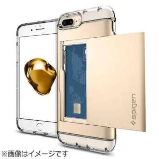 iPhone 7 Plus用 Crystal Wallet シャンパンゴールド 043CS20988
