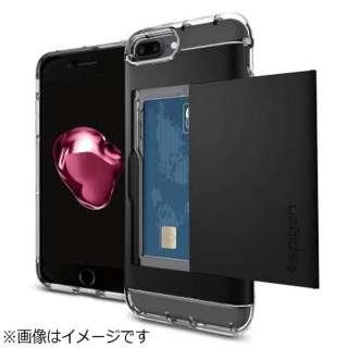iPhone 7 Plus用 Crystal Wallet ブラック 043CS20986