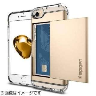 iPhone 7用 Crystal Wallet ゴールド 042CS20983