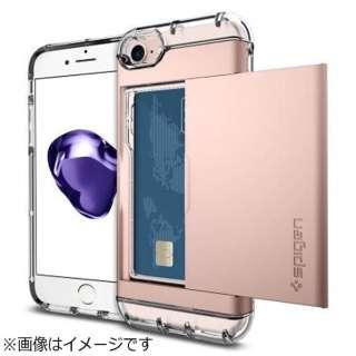 iPhone 7用 Crystal Wallet ローズゴールド 042CS20982