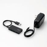 U3HS-A420S USBハブ ブラック [USB3.0対応 /4ポート /バス&セルフパワー]