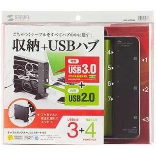 USB-3H705BK USBハブ ブラック [USB3.0対応 /7ポート /バス&セルフパワー]