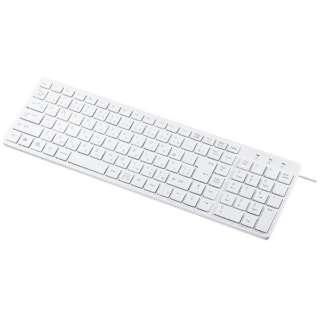 SKB-SL26W キーボード 静音スリム ホワイト [USB /有線]