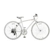 700×28C型 クロスバイク amadana TAG label(ツヤケシホワイト/450サイズ《適応身長:150cm以上》) SBB707【2017年/クロモリモデル】 【ビックカメラグループオリジナル】 【組立商品につき返品不可】