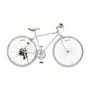 700×28C型 クロスバイク amadana(ツヤケシホワイト/450サイズ《適応身長:150cm以上》) SBB707 【組立商品につき返品不可】