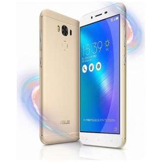 Zenfone 3 Maxゴールド「ZC553KL-GD32S3」・Snapdragon 430 5.5型ワイド・メモリ/ストレージ:3GB/32GB・microSIM×1 nanoSIM×1・ドコモ/au/Ymobile SIM対応 SIMフリースマートフォン