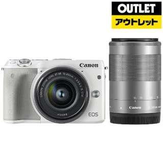 【アウトレット品】 ミラーレス一眼カメラ EOS M3 [ダブルレンズキット2] ホワイト 【外装不良品】