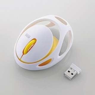 M-EG30DRWH マウス EGG MOUSE FREE ホワイト [IR LED /3ボタン /USB /無線(ワイヤレス)]