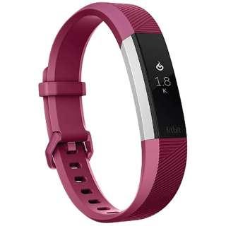 FB408SPML-CJK ウェアラブル端末 心拍計+フィットネス リストバンド Lサイズ Fitbit Alta HR フューシャ/ステンレススチール