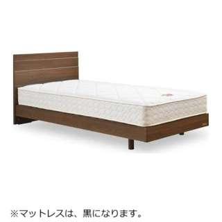 【フレーム&マットレス】フランスベッド 収納なし メモリーナ65[レッグ/スノコ床板](セミダブルサイズ/ウォールナット) + ZT-020セット【日本製】