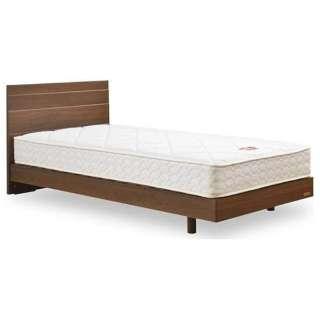 【フレーム&マットレス】フランスベッド 収納なし メモリーナ65[レッグ/スノコ床板](セミダブルサイズ/ウォールナット) + MH-050セット【日本製】