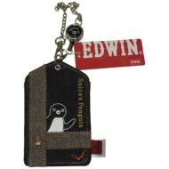 Penguin pass Case (EDWIN) tweed of Suica