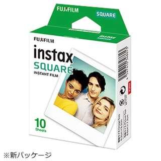 チェキ インスタントカラーフィルム スクエアフォーマットフィルム 「instax SQUARE」 1パック(10枚入)