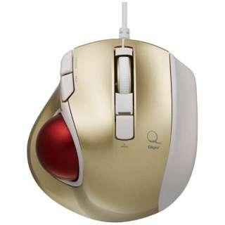 マウス Digio2 極小 ゴールド MUS-TULF133GL [レーザー /有線 /5ボタン /USB]