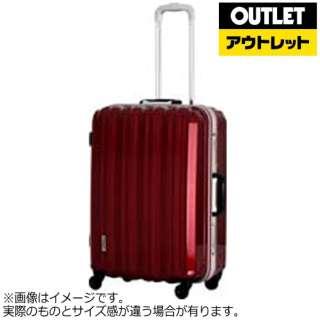 【アウトレット品】 スーツケース アルミフレーム 66L メタリックレット ESC1048-60 [TSAロック搭載] 【外装不良品】