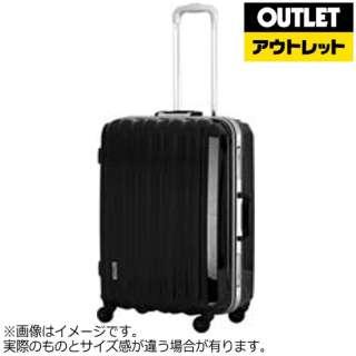 【アウトレット品】 スーツケース アルミフレーム 30L メタリックブラック ESC1048-46 [TSAロック搭載] 【外装不良品】